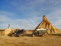 SPAGNA DESERTO MONEGROS BARDENAS REAL IN 4X4